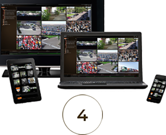 video surveillance on devices for commercial security products & hardware